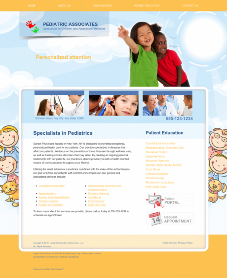 Pediatrics Website Preview #15