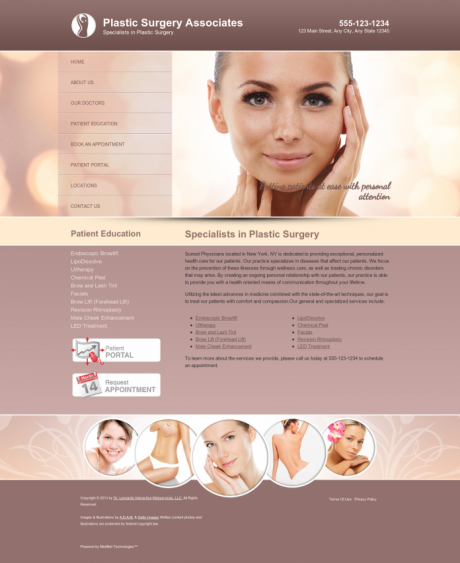Plastic Surgery Website Preview #10
