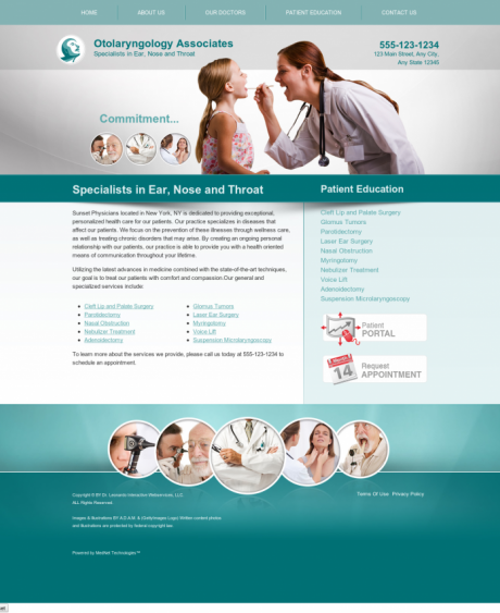 Otolaryngology Website Preview #11