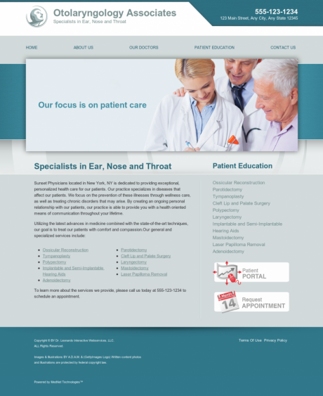 Otolaryngology Website Preview #12