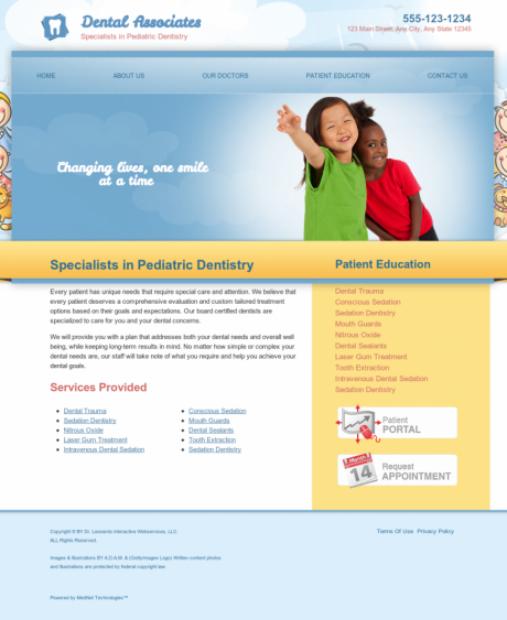 Pediatric Dentistry Website Preview #14