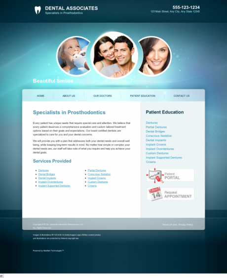 Prosthodontics Website Preview #11