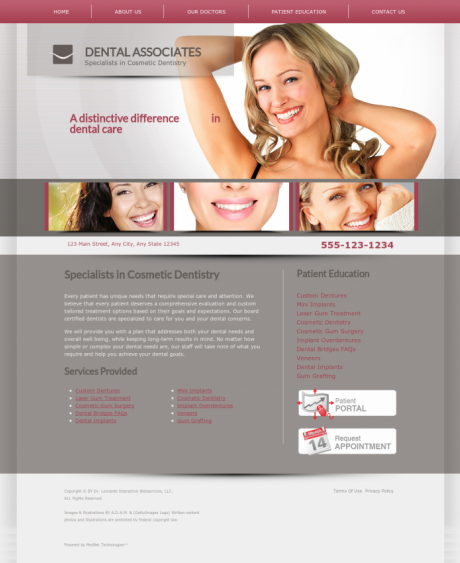 Cosmetic Dentistry Website Preview #12