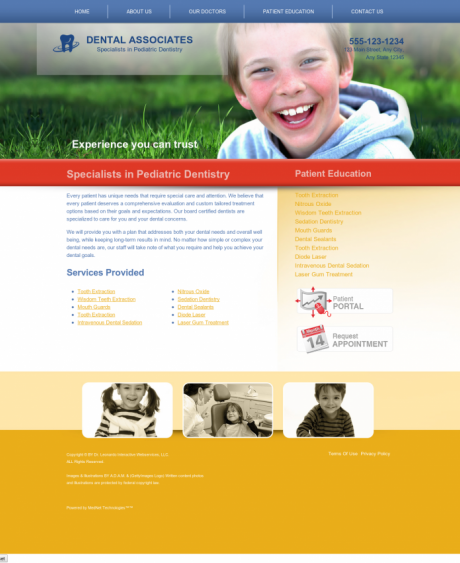 Pediatric Dentistry Website Preview #15