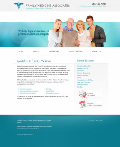 Family Medicine Website Preview #10