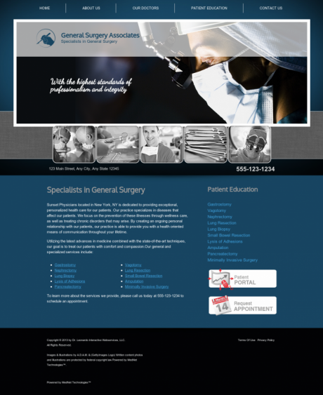 General Surgery Website Preview #16