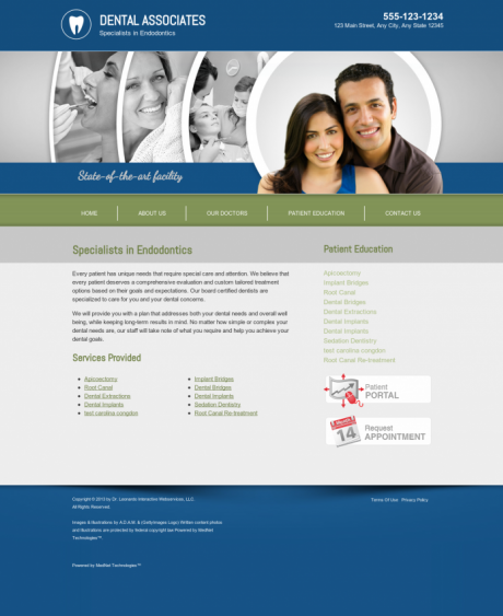 Endodontics Website Preview #13