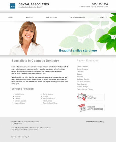 Cosmetic Dentistry Website Preview #13