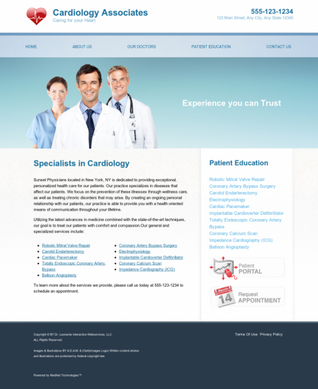 Cardiovascular Website Preview #11