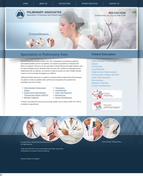 Pulmonary Disease Website Preview #4