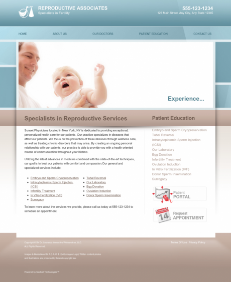 Reproductive Services Website Preview #12