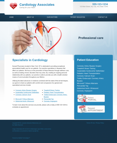 Cardiovascular Website Preview #12