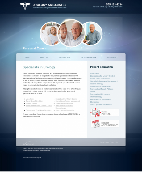 Urology Website Preview #13