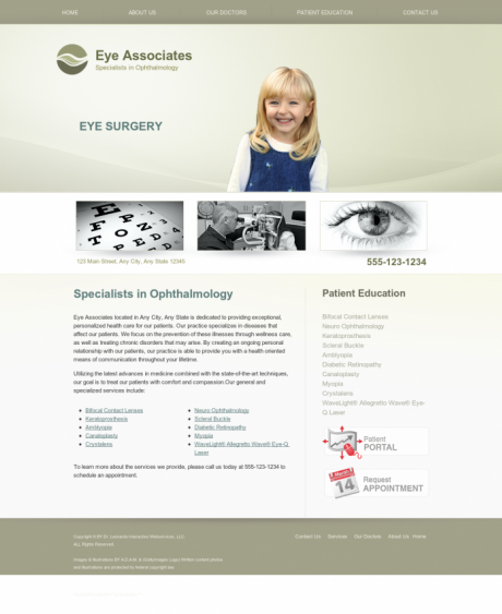 Ophthalmology Website Preview #17