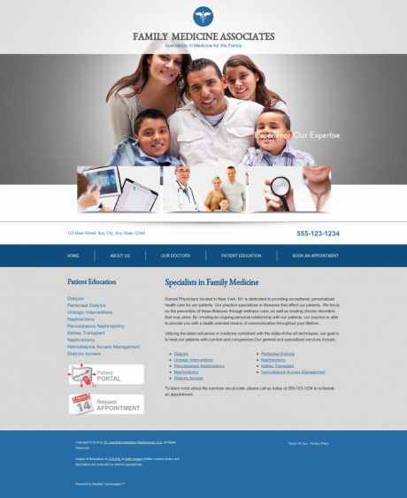 Family Medicine Website Preview #13