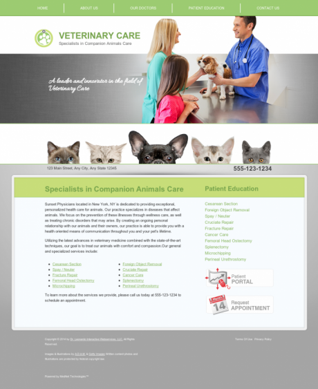 Veterinary Website Preview #2