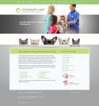 Veterinary Website Thumbnail #2