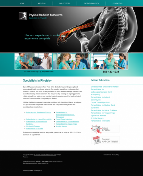 Physical Medicine Website Preview #9