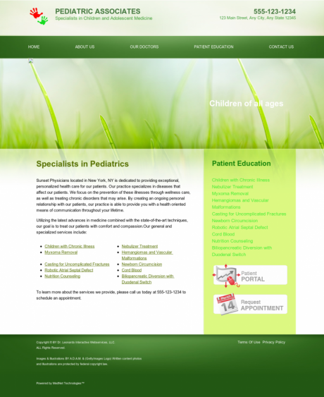 Pediatrics Website Preview #16