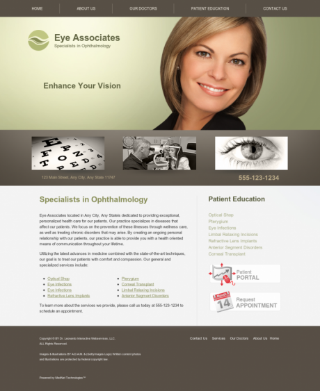 Ophthalmology Website Preview #11