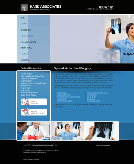 Hand Surgery Website Preview #6