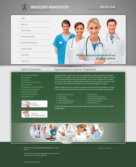 Oncology Website Preview #13