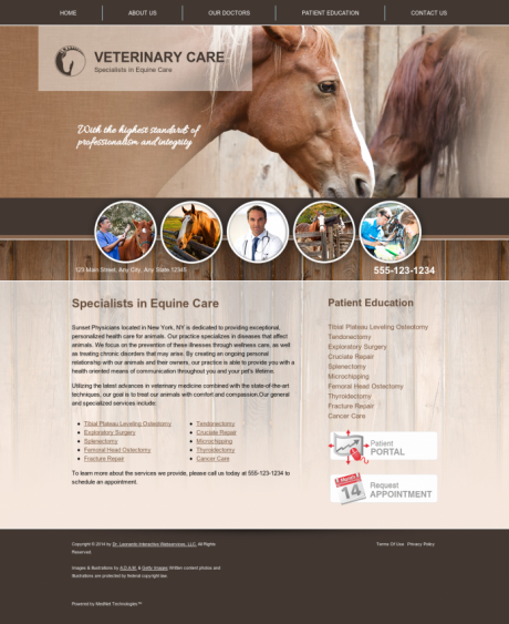 Equine Website Preview #10