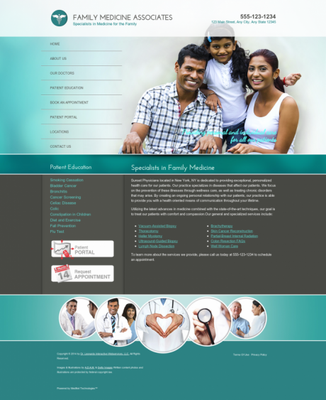 Family Medicine Website Preview #14