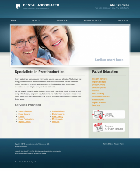 Prosthodontics Website Preview #12
