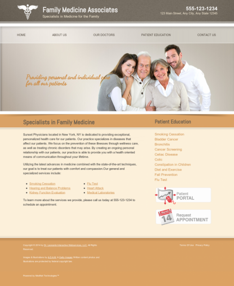 Family Medicine Website Preview #15