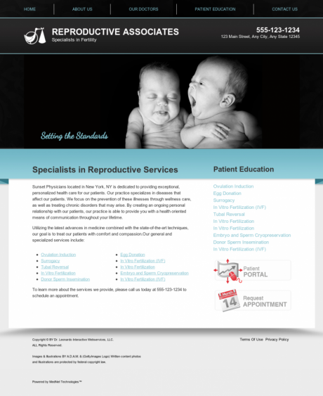 Reproductive Services Website Preview #13
