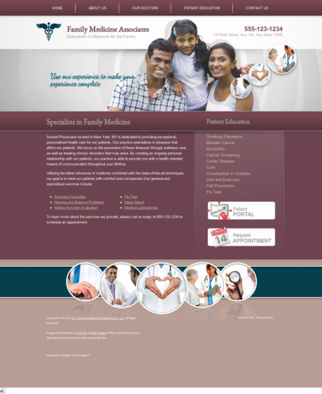 Family Medicine Website Preview #16