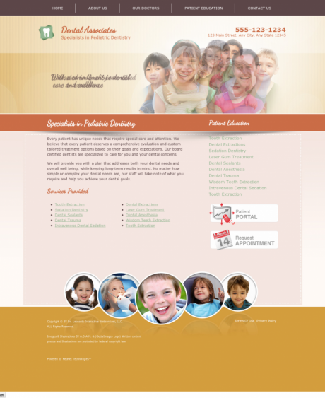 Pediatric Dentistry Website Preview #16