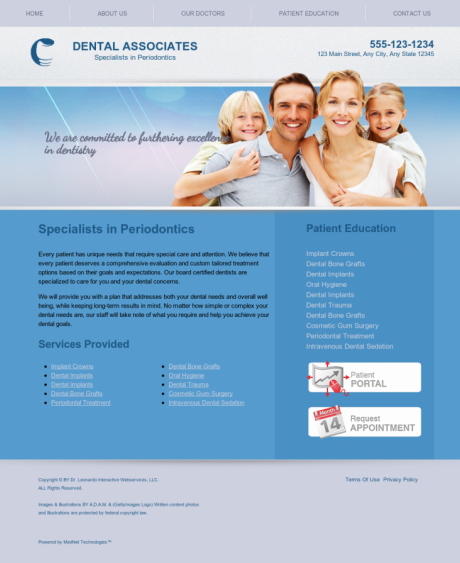 Periodontics Website Preview #15