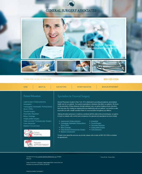 General Surgery Website Preview #17