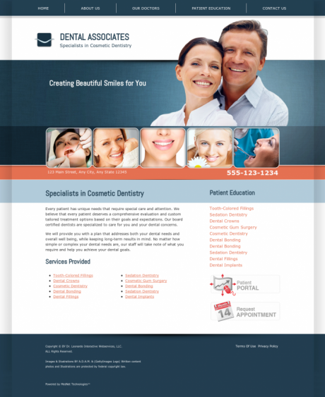 Cosmetic Dentistry Website Preview #1
