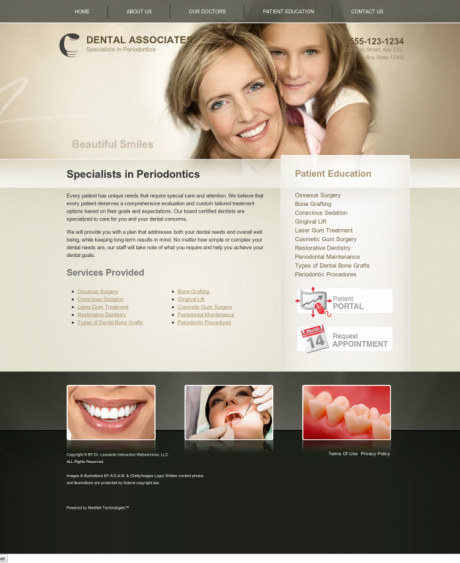 Periodontics Website Preview #16