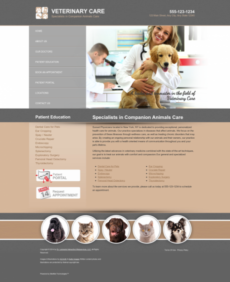 Veterinary Website Preview #16
