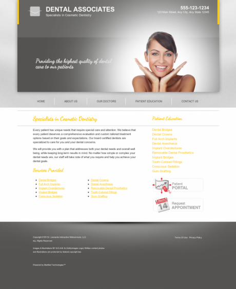 Cosmetic Dentistry Website Preview #15