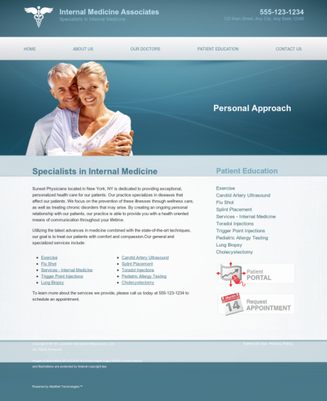Internal Medicine Website Preview #15