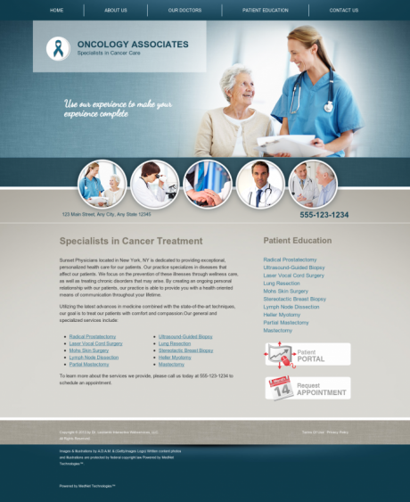 Oncology Website Preview #15