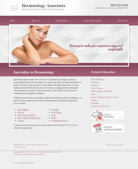 Dermatology Website Preview #16