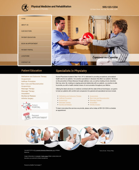 Physical Medicine Website Preview #11