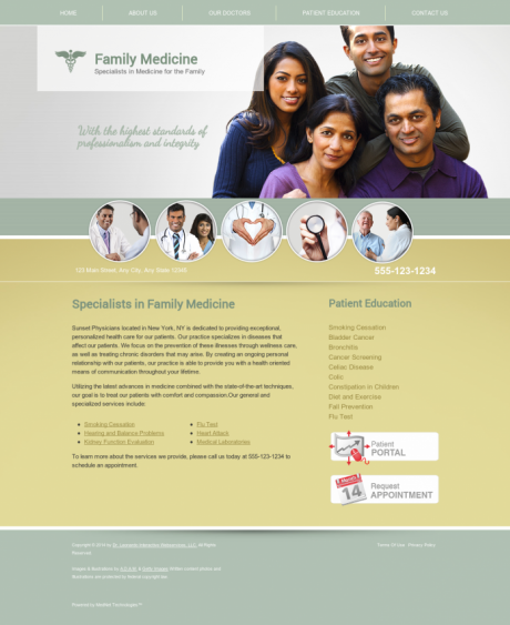 Family Medicine Website Preview #17