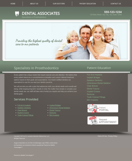 Prosthodontics Website Preview #13