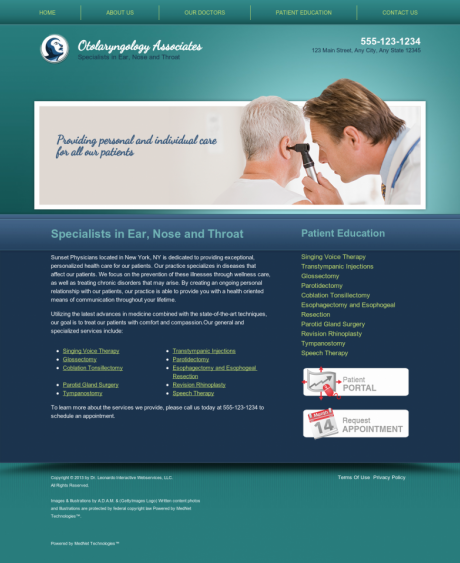 Otolaryngology Website Preview #17