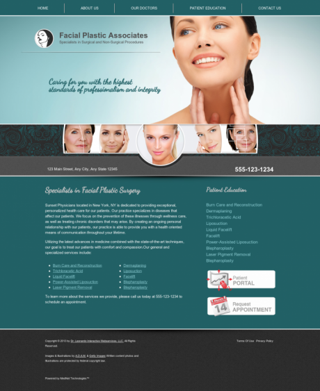 Facial Plastic Surgery Website Preview #12