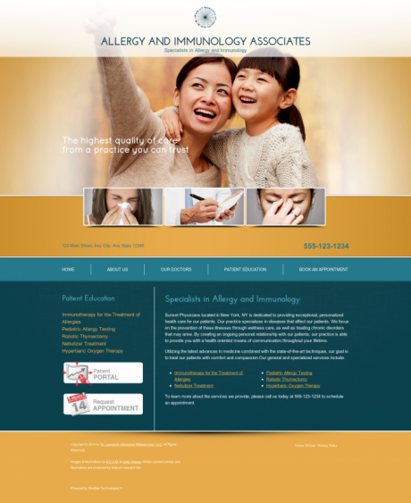 Allergy & Immunology Website Preview #12
