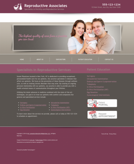 Reproductive Services Website Preview #15