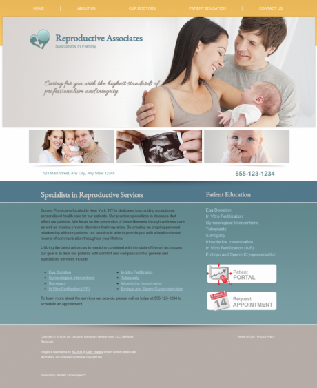 Reproductive Services Website Preview #16